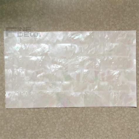 Aaa Grade White Mother Of Pearl Laminate Sheet Brick