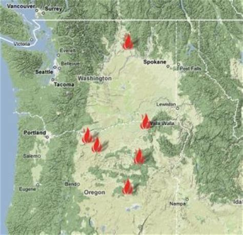 map of oregon forest fires lightning starts fires in ne oregon salem news