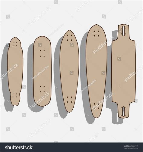 longboard templates drop through longboard template www pixshark