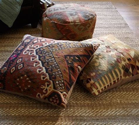 Pottery Barn Floor Pillow pb found kilim floor seating covers muted eclectic decorative pillows by pottery barn
