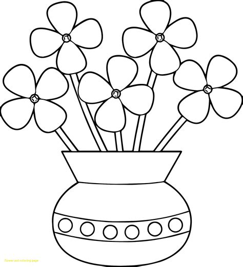 flower color pages best of flower pot coloring pages gallery printable