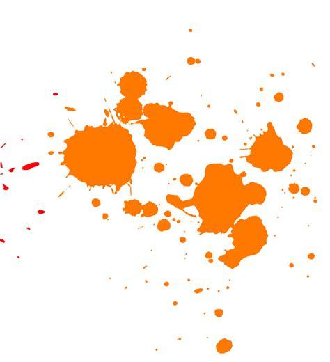 orange paint splatter transparent png stickpng