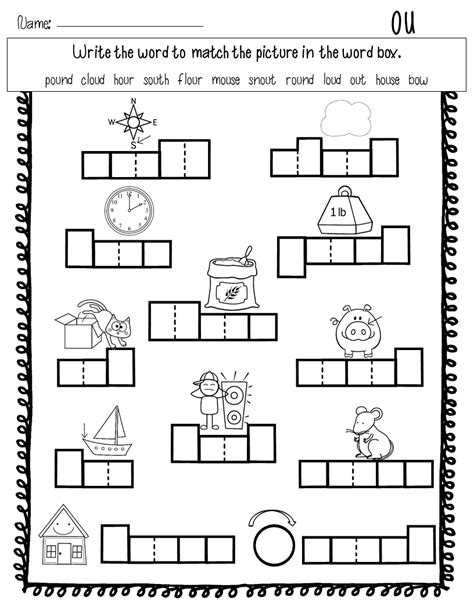 Ou Ow Worksheets by Vowel Spelling Patterns Word Sorts Book Covers