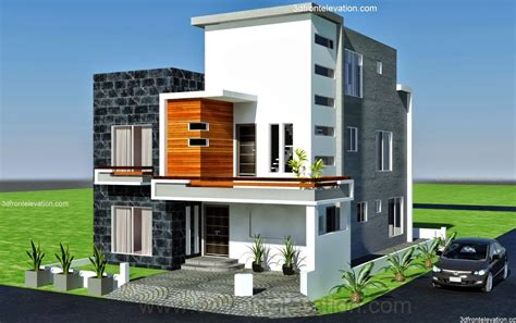 3d front elevation 10 marla modern architecture