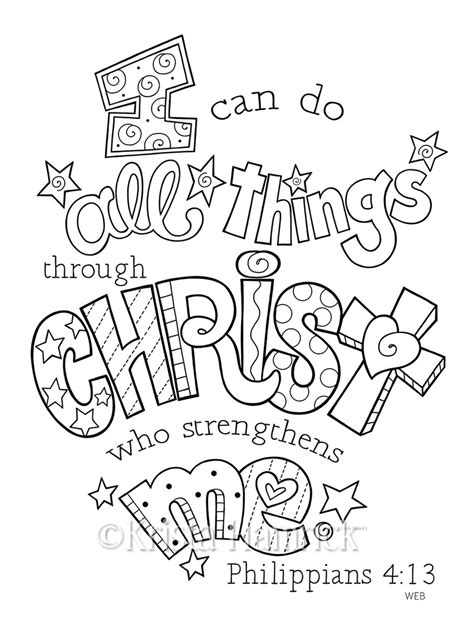 Coloring Page For Philippians 4 13 by Philippians 4 13 Coloring Page Coloring Pages