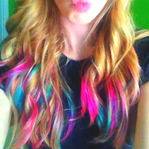 rainbow color hair ideas rainbow hair tips on dark hair www imgkid com the