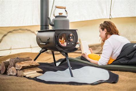 collapsible wood stove to heat up your cing tent