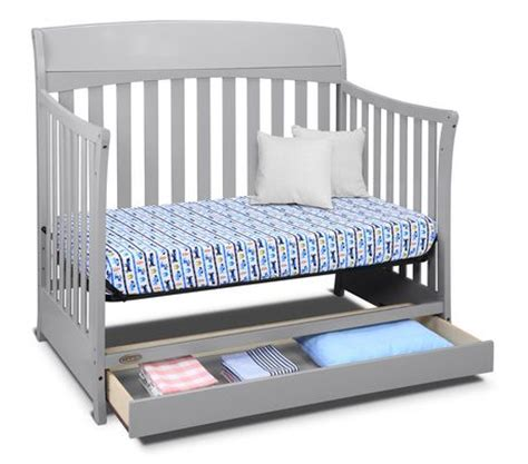 convertible crib with drawer graco lennon 4 in 1 convertible crib with drawer pebble