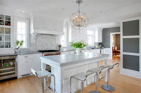 soothing white and gray kitchen remodel transitional kitchen chicago by normandy remodeling