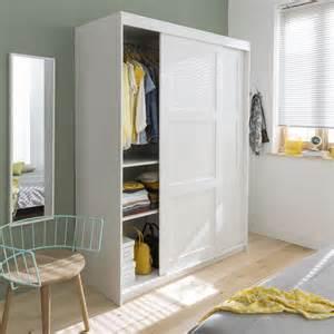 armoire 2 portes coulissantes blanc darwin castorama