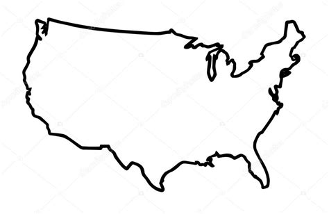 united states map outline eps usa broad outline map stock vector 169 bigalbaloo 123817358