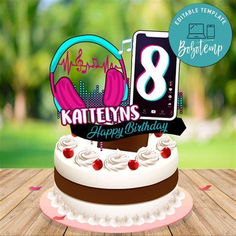 tiktok teen birthday cake topper digital file printable