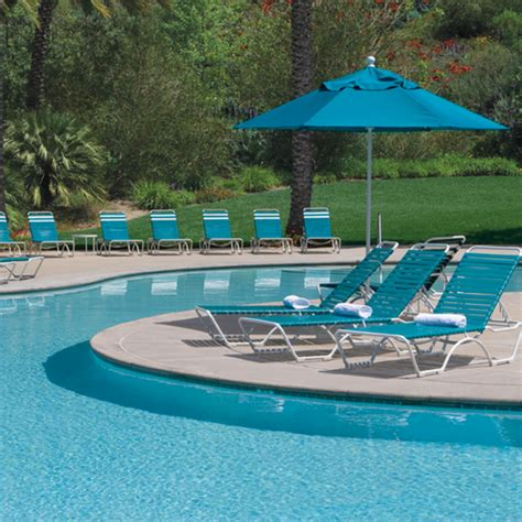 pool furniture supply tropitone kahana strap chaise lounge stackable