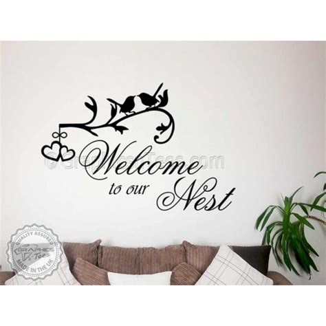 family wall stickers family wall sticker quote welcome to our nest home wall