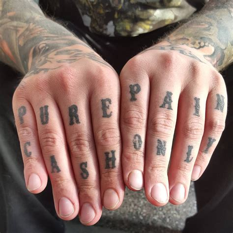 knuckle tattoo 120 best knuckle designs meanings self