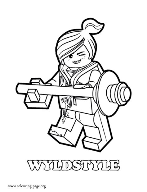 coloring pages lego movie emmet wyldstyle is emmet s friend and a good female fighter who