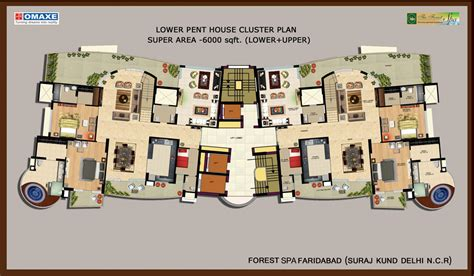 spa floor plan floor plan omaxe forest spa developers ltd