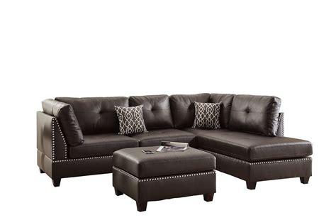 sectional sofa and ottoman set poundex bobkona sectional sofa and ottoman set book of
