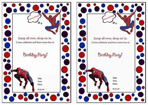 printable birthday invitations spiderman spiderman birthday invitations birthday printable