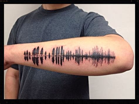 tattoo on my mind chords tree silhouette pine tree and tattoo nature on pinterest