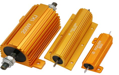 gold gold resistor gold aluminum housed wire wound power resistor rx24 4r7 resistor electronic components china