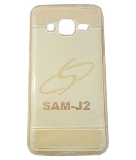 Softcase Fashion For Samsung Galaxy J2 style back cover for samsung galaxy j2 golden plain back covers at low prices