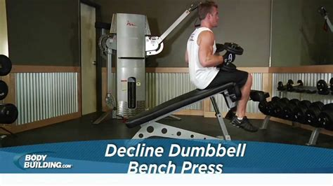 decline bench press bodybuilding decline dumbbell bench press chest exercise