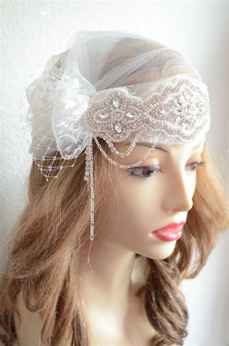 how to make 1920s headpieces lace french netting headpiece bridal cap 1920s headpiece