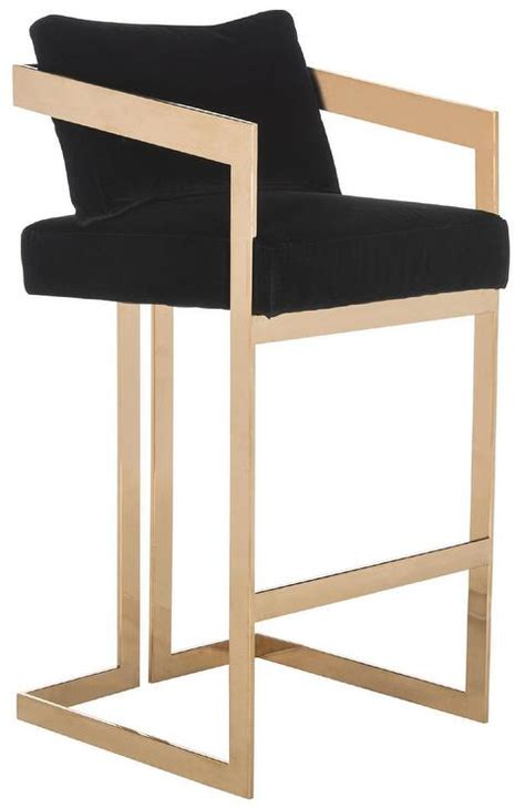 Nuevo Chi Bar Stool by Nuevo Black Gold Chi Bar Stool