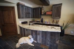 Reclaimed wood bar traditional kitchen denver by urban designs