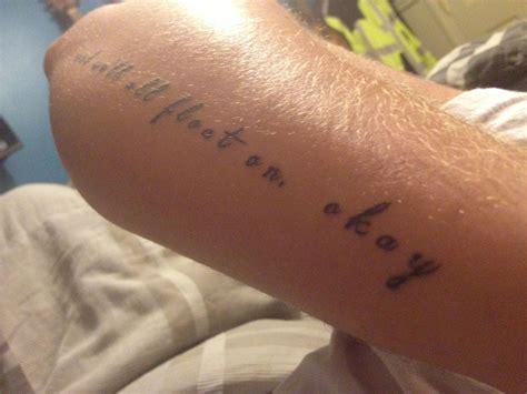float on tattoo of modest mouse lyrics float on fund