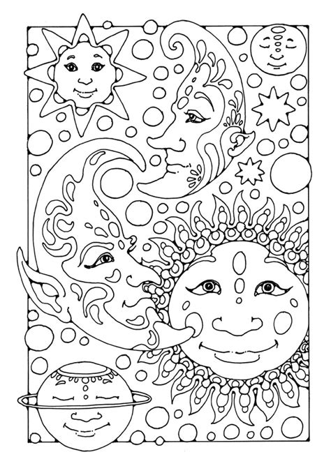 coloring pages sun and moon free printable moon coloring pages for kids best