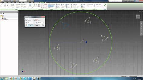 rectangular pattern inventor sketch autodesk inventor tutorial 15 circular pattern youtube
