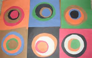 color study squares with concentric circles vasily kandinsky project global