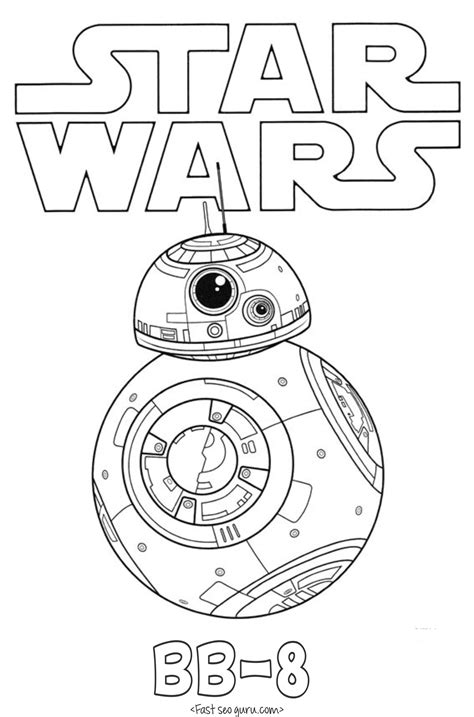 free coloring pages star wars the force awakens star wars the force awakens bb 8 coloring pages
