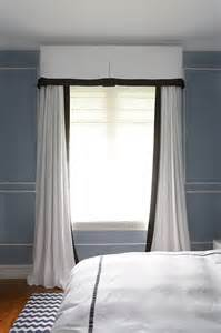 White Curtains With Black Trim Black And White Curtains Transitional Bedroom Diane Bergeron Interiors
