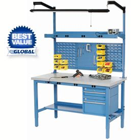 adjustable height work bench penco adjustable height work bench systems at globalindustrial com