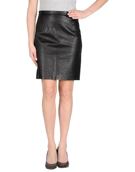 tibi leather skirt in black lyst