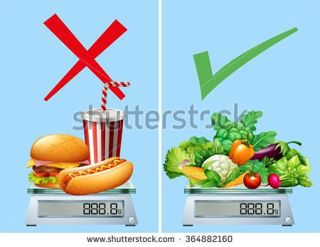 vegetables vs junk food unhealthy food stock images royalty free images vectors