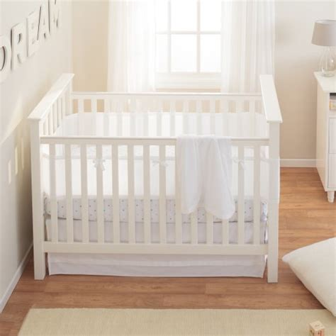 Safe Crib Bedding Breathablebaby Safety Crib Bedding Set White Mist 3