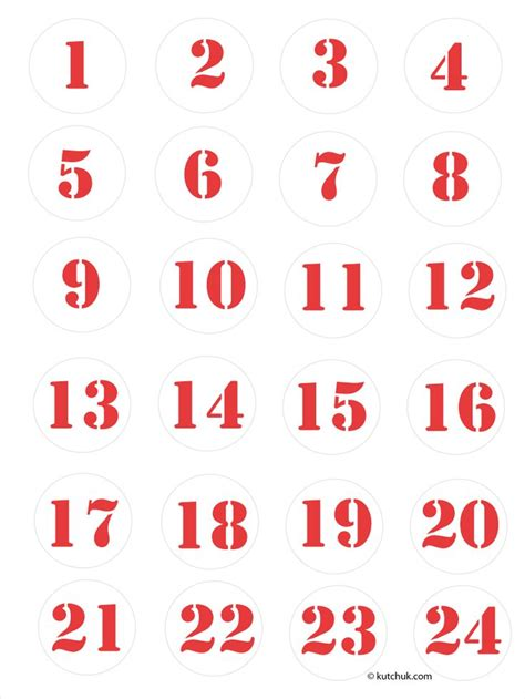 printable calendar numbers christmas new calendar advent calendar numbers printable dream christmas