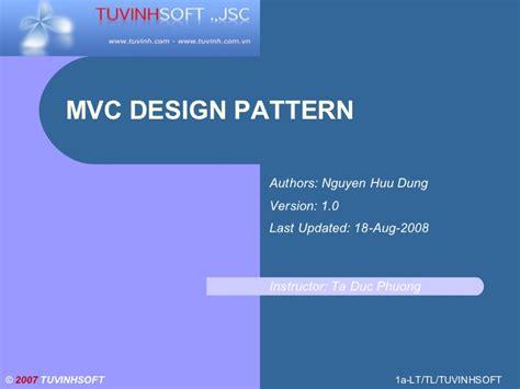mvc pattern software engineering mvc design pattern vietnam software outsource