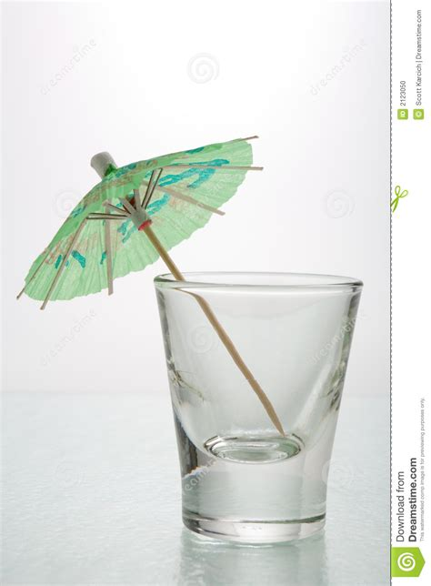Cocktail Umbrella Shot Glass Stock Photo Image 2123050