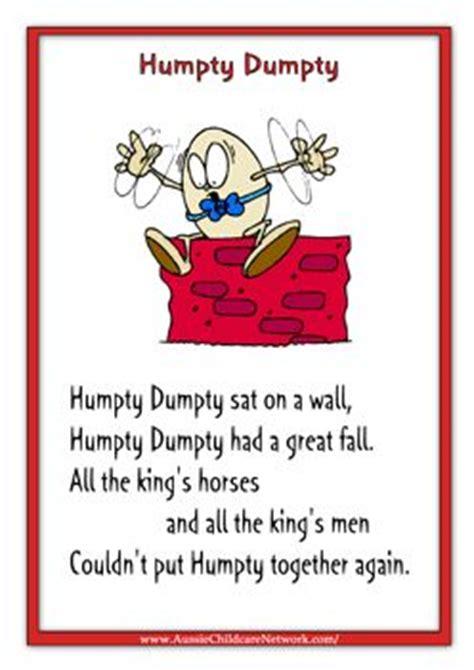 full humpty dumpty rhyme printables humpty dumpty and poster on pinterest