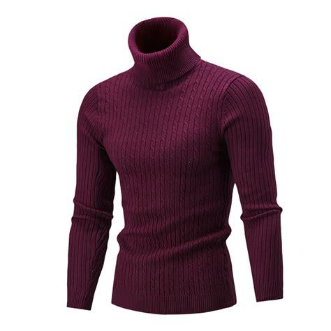 High Neck Knit Sweater winter slim warm knit high neck pullover jumper