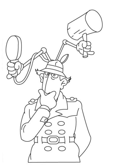 imagenes animadas inspector gadget dibujos de inspector gadget para colorear