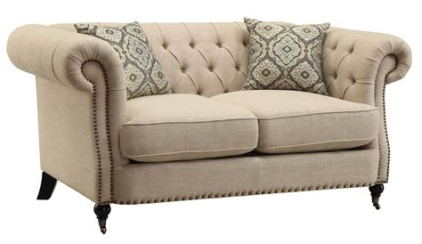 sofa and love seats coaster trivellato button tufted loveseat 505822