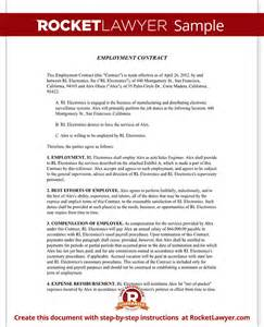 employment contract template employment agreement