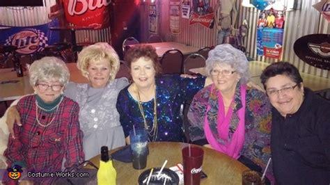 golden girls group halloween costume photo