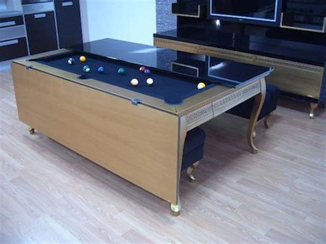 Dining Pool Table by Pool Table Disguised As Dining Room Table